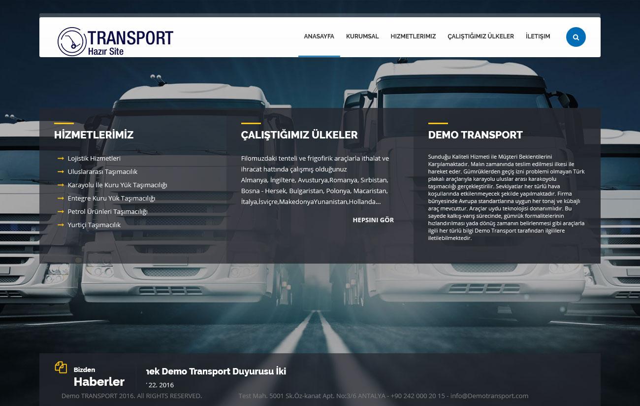Hazır Transport Sitesi